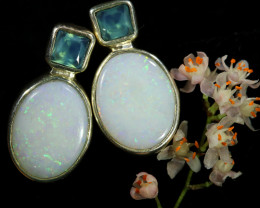 11.05 CTS SINGLE DEAL OF SOLID OPAL  EARRING [SOJ6561]