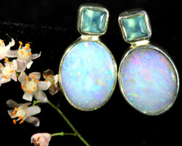 10.25 CTS SINGLE DEAL OF SOLID OPAL EARRING [SOJ6563]