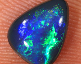0.85ct 8x6mm Solid Lightning Ridge Black Opal [LO-1315]
