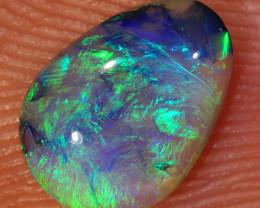 0.6ct 8x5.5mm Solid Lightning Ridge Dark Crystal Opal [LO-1325]