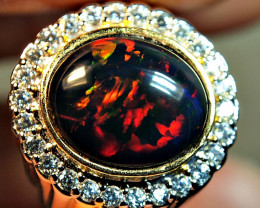 2.45crt AMAZING BROAD STREEP ETIOPIAN WELLO OPAL SMOCKED