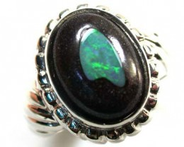 OPAL ART STERLING SILVER RING SIZE 9  SCA216
