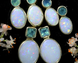 25.55 CTS PARCEL DEAL OF SOLID OPAL EARRING [SOJ6565]