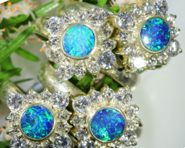 73.95 CTS PARCEL DEAL OF  DOUBLET OPAL RINGS [SOJ6573]