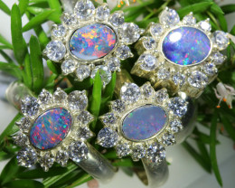 75.65 CTS PARCEL DEAL OF  DOUBLET OPAL RINGS [SOJ6575]