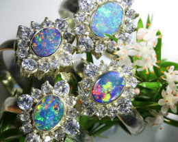 77.55 CTS PARCEL DEAL OF  DOUBLET OPAL RINGS [SOJ6576]
