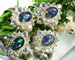 73.75 CTS PARCEL DEAL OFTRIPLET OPAL  RINGS [SOJ6577]