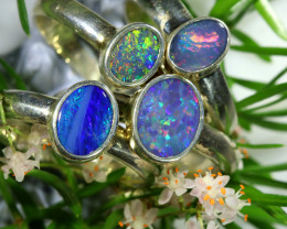 67.15 CTS PARCEL DEAL OF  DOUBLET OPAL RINGS [SOJ6581]