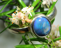SIZE 8 STUNNING SOLID OPAL RING [SOJ6588]