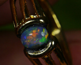 16.60 CT UNTREATED Beautiful Indonesian Crystal Opal Ring