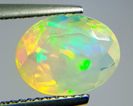 "2.20 ct "" Ultra Fire "" Natural Ethiopian Fire Opal Oval Cut"