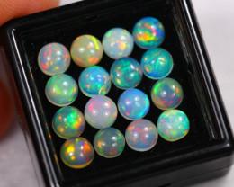 5.89Ct Multi Color Ethiopian Welo Opal Lot 5x5mm~ D03/14