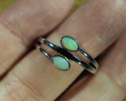 Cute Solid Crystal Opal Ring WS583