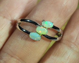 Cute Solid Crystal Opal Ring WS587