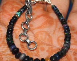 21 Crts Natural Ethiopian Welo Fire Smoked Opal Beads Bracelet 18