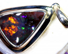29-CTS BOULDER OPAL STERLING SILVER PENDANT OF-2495