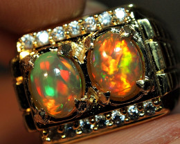 2.75 crt BEAUTY PAIR WELLO OPAL BEST PLAY COLLOUR