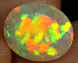 Faceted 3.20cts Extremely Floral Pattern Natural Ethiopian Welo Opal