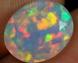 Faceted 1.70cts AAA Floral Pattern Natural Ethiopian Welo Opal
