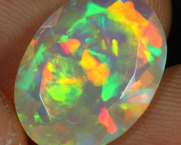 Faceted 3.75cts Puzzle Pattern Natural Ethiopian Welo Opal