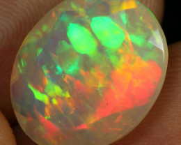 Faceted 5.80cts AAA Cell Pattern Natural Ethiopian Welo Opal