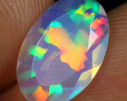 Faceted 2.05cts Crystal Clear 3D Puzzle Natural Ethiopian Welo Opal