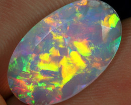 Faceted 3.25cts 5/5 Rainbow Patchwork Natural Ethiopian Welo Opal