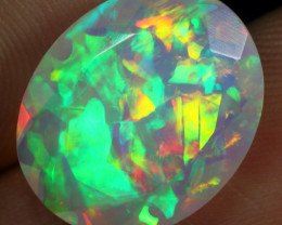 World Class 6.10cts Chaff and 3D Confetti Natural Ethiopian Welo Opal