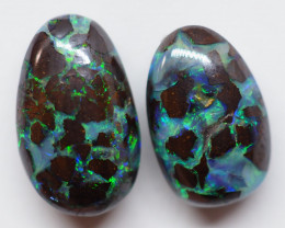 5.10CT VIEW PAIR QUEENSLAND BOULDER OPAL (Double Side) AA56