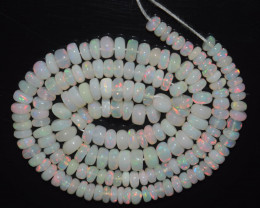 46.40 Ct Natural Ethiopian Welo Opal Beads Play Of Color