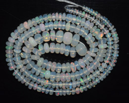 34.20 Ct Natural Ethiopian Welo Opal Beads Play Of Color