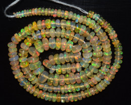 28.75 Ct Natural Ethiopian Welo Opal Beads Play Of Color