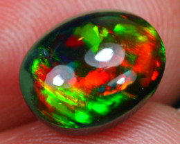 2.60Ct Rainbow Chaff Fire Pattern Ethiopian Welo Black Smoked Opal~C08/15