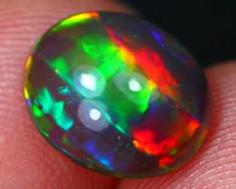 2.65Ct Rainbow Stunning Pattern Ethiopian Welo Black Smoked Opal~D09/3