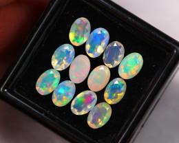 3.92Ct Multi Color Ethiopian Welo Faceted Opal Auction ~ D09/13
