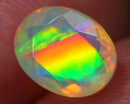 1.55Ct Rainbow Explorer Flash Pattern Ethiopian Welo Faceted Opal~C10/3
