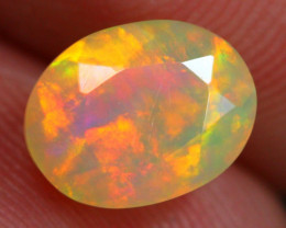 1.40Ct Saturated Neon Pattern Ethiopian Welo Faceted Opal ~ C10/4