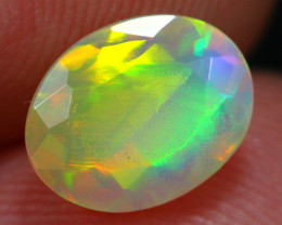 1.00Ct Block / Patchwork Pattern Ethiopian Welo Faceted Opal ~ C10/5