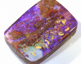 30ct 25x18mm Crystal Pipe Boulder Opal Wood Fossil [LOB-2296]