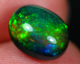 3.23Ct Botanic Stunning Pattern Ethiopian Welo Black Smoked Opal ~ D11/5