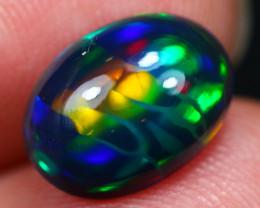 2.27Ct Amazing Block Pattern Ethiopian Welo Black Smoked Opal ~ D11/13