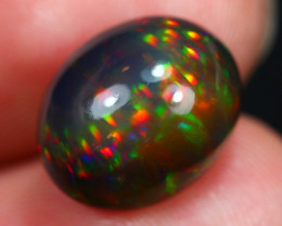 5.61Ct Rainbow Prism Pattern Ethiopian Welo Black Smoked Opal ~ D11/15