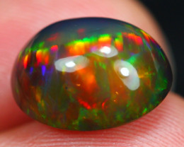 5.61Ct Rainbow Prism Pattern Ethiopian Welo Black Smoked Opal ~ D11/15