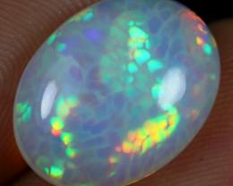 AAA 4.60cts Rainbow Fish Scale Honeycomb Natural Ethiopian Welo Opal