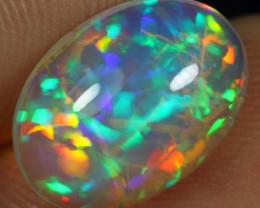 Top AAA 3.35cts Rainbow Confetti Pattern Natural Ethiopian Welo Opal