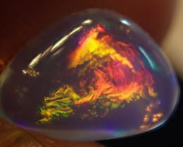 1.80 ct  Bright Fiery Ethiopian Welo Opal