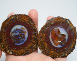 Over400CT VIEW ROUGH QUEENSLAND BOULDER OPAL  (Pair) TA2