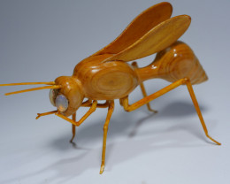 THE WASP CARVING INDONESIAN TEAK WOOD WITH 2 PCS BEAUTY WELO OPAL