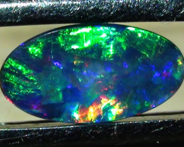 1.0 ct $1 NR Coober Pedy Doublet Opal With Gem Blue Green Color