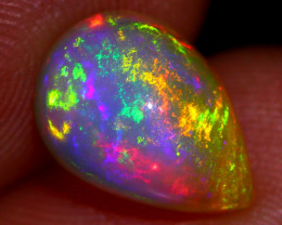 Electric Rainbow 2.19ct Natural Ethiopian Welo Solid Opal